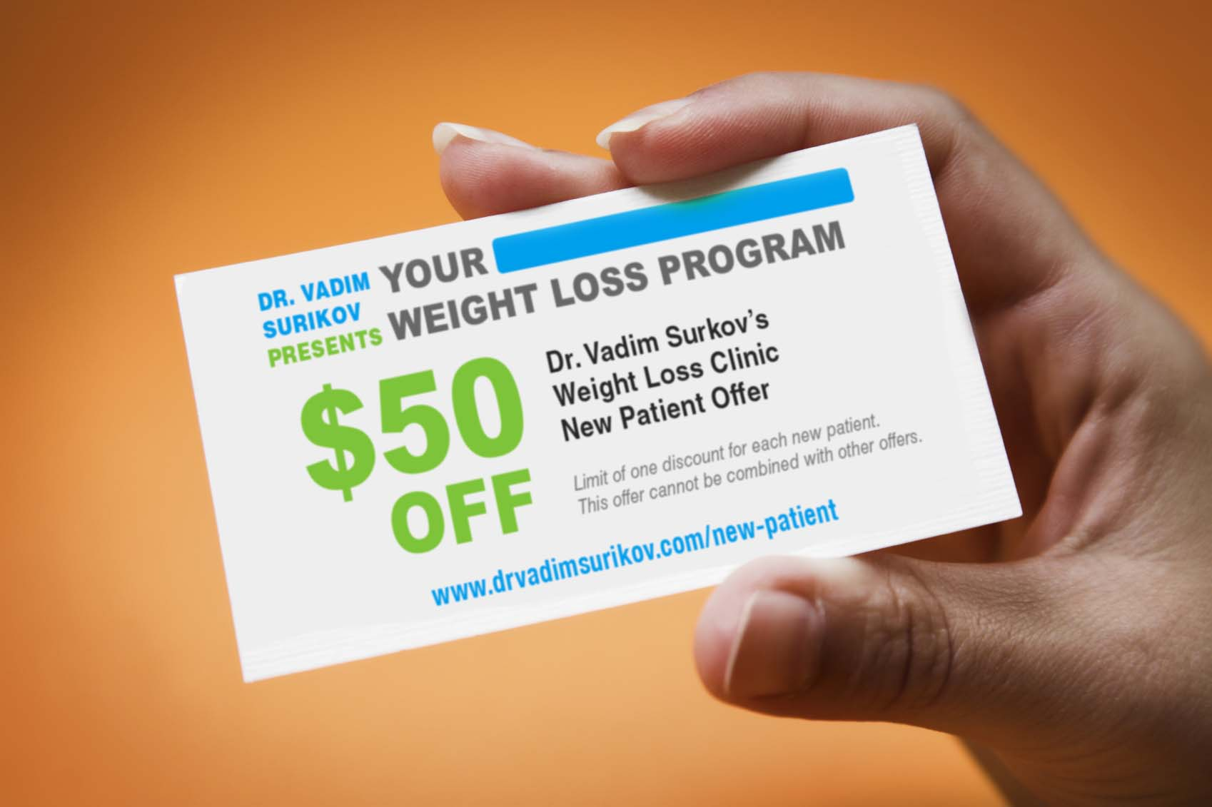 weight loss new patient offer Dr. Vadim Surikov